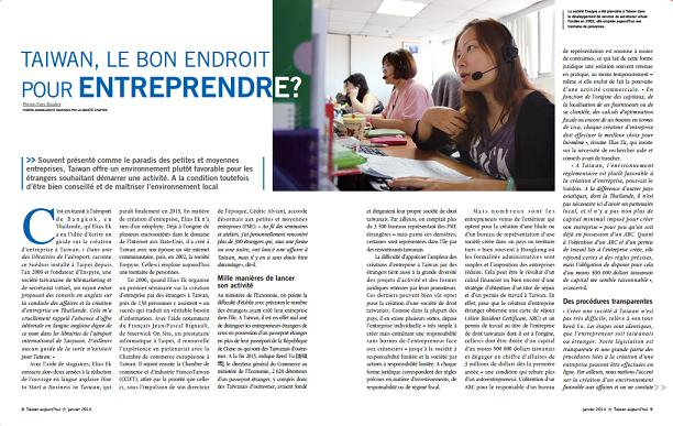 Is Taiwan the Right Place for Entrepreneurs? – Interview by Taiwan Aujourd'hui
