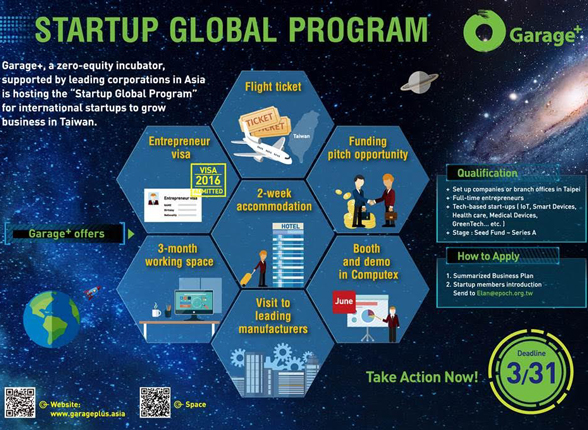 TAIWAN TICKET: Startup Global Program 2016